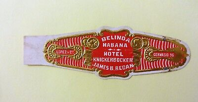 """For Sale: OLD COLLECTIBLE CIGAR BAND, """" BELINDA # 11"""", B158"""