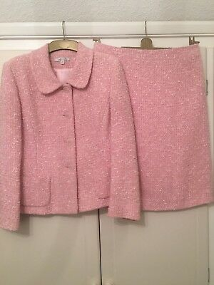 Lk Bennett Ladies Pink/white 2 Piece Suit. Size 12/14. Perfect For Spring!