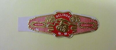 """For Sale: OLD COLLECTIBLE CIGAR BAND, """" BELINDA # 17"""", B164"""