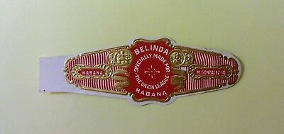 """For Sale: OLD COLLECTIBLE CIGAR BAND, """" BELINDA # 18"""", B165"""