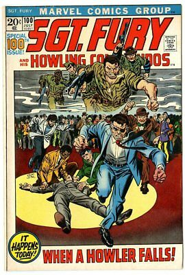 Sgt. Fury #100 VF/NM 9.0 white pages  Marvel  1972  No Reserve