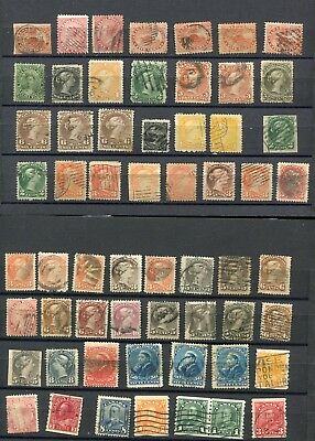 (FE298) Canada classic used stamps till 1920 some imperf.