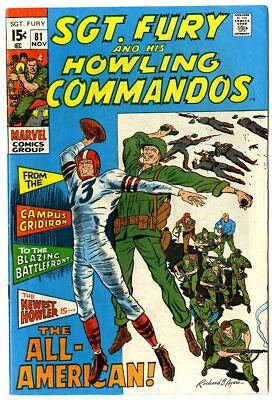 Sgt. Fury #81 VF 8.0 white pages  Marvel  1970  No Reserve