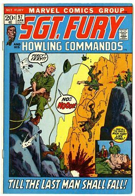 Sgt. Fury #97 VF 8.0 off-white pages  Marvel  1972  No Reserve