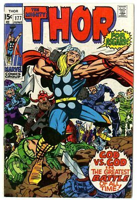 Thor #177 VF+ 8.5 off-white pages  vs. Loki  Marvel  1970  No Reserve