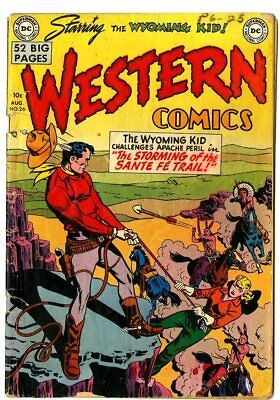 Western Comics #26 VG 4.0 off-white pages  Wyoming Kid  DC  1951  No Reserve