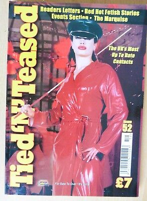 2004 TIED 'N' TEASED No 52 Glossy 98 page A5 fem dom fetish mag with contacts
