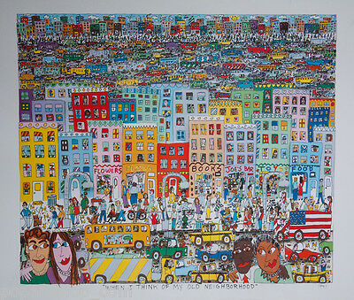 James Rizzi  *when I Think Of My Old Neighborhood*  Selten!  Rar! Superdeal
