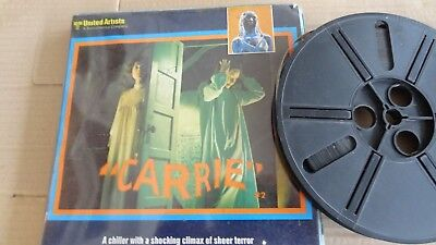 super 8 mm film carrie part 1 and part 2  color sound 400 series