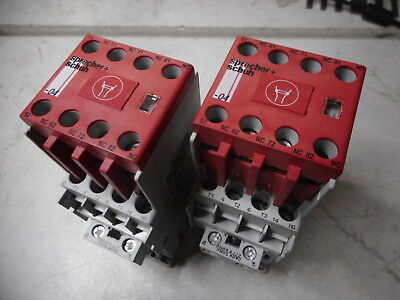 SPRECHER and SCHUH SAFETY CONTACTORS -- Qty of 2 -- CAS7-9-14C -- 240AC coil 4Kw