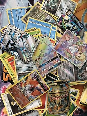 Pokemon TCG 100 CARD LOT COMMON UNCOMMON GUARANTEED RARE + HOLO CARDS