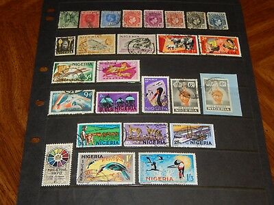 Nigeria stamps for sale - 26 used early stamps - nice group !!