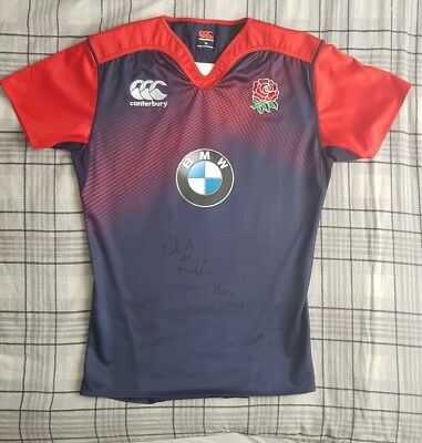 Real Owen Farrell Signed Rugby England Shirt Xl