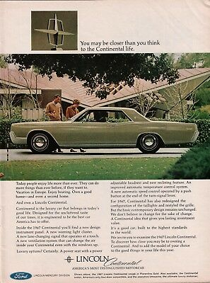 1966 Lincoln Continental Coupe In Florentine Golds Print Ad