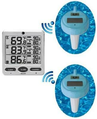 Ambient Weather WS-19 Wireless 8-Channel Floating Pool and Spa Thermometer...