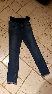 ASOS Maternity Jeans Size 12 Dark Blue Denim, over the bump style