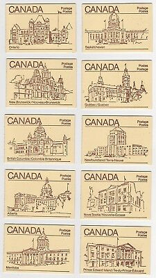10, Full Canada Stamp  Booklets # 84