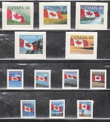 Canada Booklet Stamps - Flags 12 B