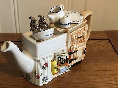 Paul Cardew Kitchen sink one cup teapot novelty collectable