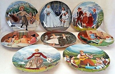 """Complete Set of """"The Sound Of The Music"""" Collector Plates from Edwin Knowles"""