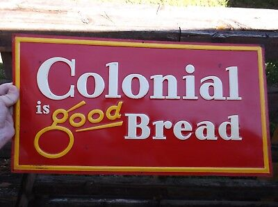 New Old Stock Colonial Is Good Bread Painted Sign