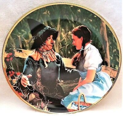 """Wizard Of Oz Hamilton Collection Plate """"dorothy Meets The Scarecrow"""" Exc Cond"""