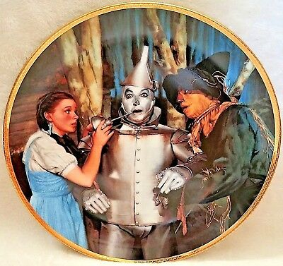 """Wizard Of Oz Hamilton Collection Plate """"the Tin Man Speaks"""" Exc Cond"""