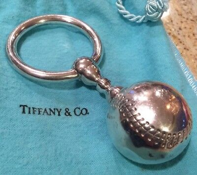Tiffany & Co. Sterling Silver Baby Baseball Rattle- Nice Condition