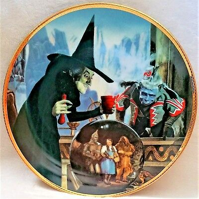"""Wizard Of Oz Hamilton Collection Plate """"the Witch Casts A Spell"""" Exc Cond"""