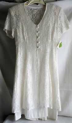 FREDERICKS OF HOLLYWOOD SIZE 9/10 WHITE LACE   DRESS  original tags NEVER WORN !