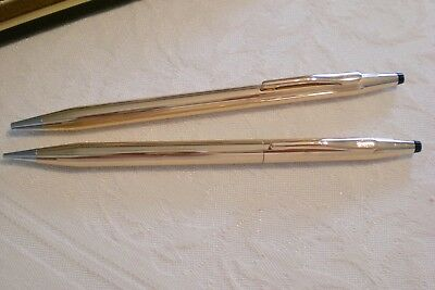 Cross Century 14K Gold Filled Pen and Pencil Set, Near Mint Condition, c. 1975