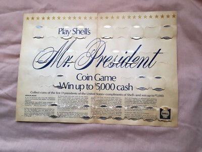 1968-1969 Mr. President Coin Game by Shell Oil