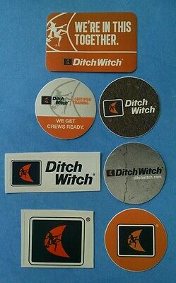 7 DITCH WITCH Safety Training Certification Union Equipment Hardhat Stickers