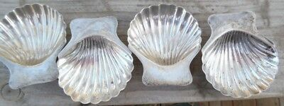 Four Vintage 925 Sterling Silver Maciel Footed Shell Nut Candy Dishes Mexico