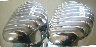 Flathead Ford Mercury V8 Two Thickstun Finned Aluminum Air Cleaners Hot Rod
