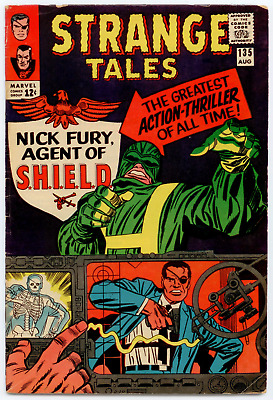 Strange Tales  #135 (Aug 1965, Marvel) FN- 5.5  Origin/1st app. Nick Fury  KEY!