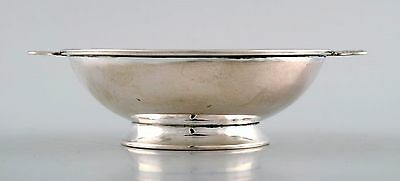 W. A. Bolin, Stockholm master court jeweler, Art Deco bowl in silver. 1930 s.