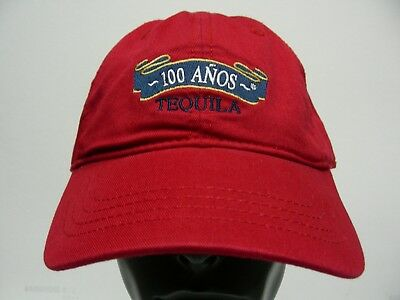 100 Anos Tequila - Brick Red - One Size Adjustble Ball Cap Hat!
