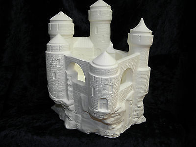 Ceramic Bisque Ready to Paint  Fairy Castle Candle Holder / Oil Burner