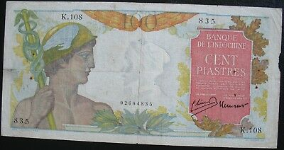 French Indo-China 1947-54 100 Piastres