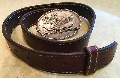 "'RM WILLIAMS' CHILDS, LEATHER BELT AND TROPHY BUCKLE, SIZE 79cm / 31"", COUNTRY"