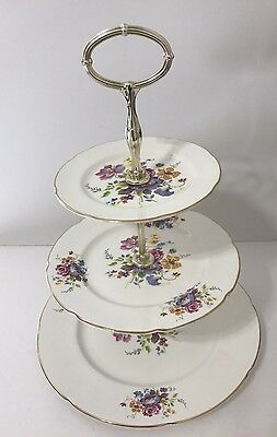 Royal Grafton 3 Tier Serving Tray Dish Dessert Cake Server Fine Bone China Eng