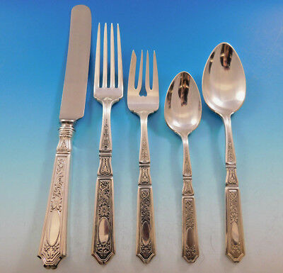 Saint Dunstan Chased by Gorham Sterling Silver Flatware Set Service 43 pc Dinner