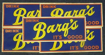 Wholesale Lot of 5: 1950's Barq's Root Beer Signs Soda Pop,Bus/Trolley Cardboard