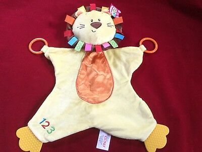 Baby Gund ROARSLY LION Color Fun Circus Plush Baby Toy Teether Blanket NEW
