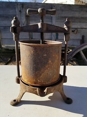 Antique 1/2 Gal Fruit / Wine / Jelly Press ~ Vintage Farm Kitchen Tool Primitve