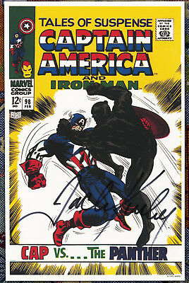 Tales Of Suspense #98 Jack Kirby Signed Autographed  poster '92 Black Panther