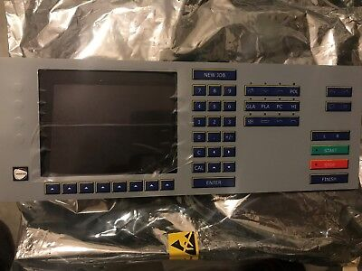 Weco edger  430, 450, 455  Optical Edger complete key pad and screen NEW