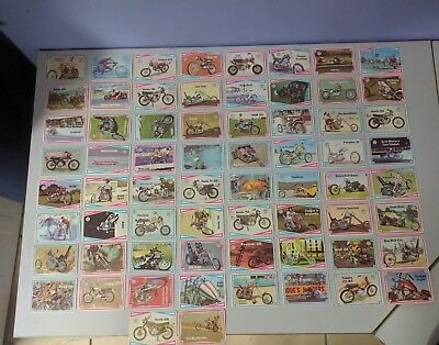 FULL SET Scanlens 1974 Choppers and Hot Bikes.