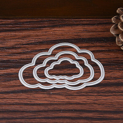 DIY Clouds Dies Metal Cutting Stencil For Scrapbooking Paper Cards Gift Decor